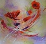 FLIRTING WITH ELEGANCE        acrylics on canvas 36×36$850.